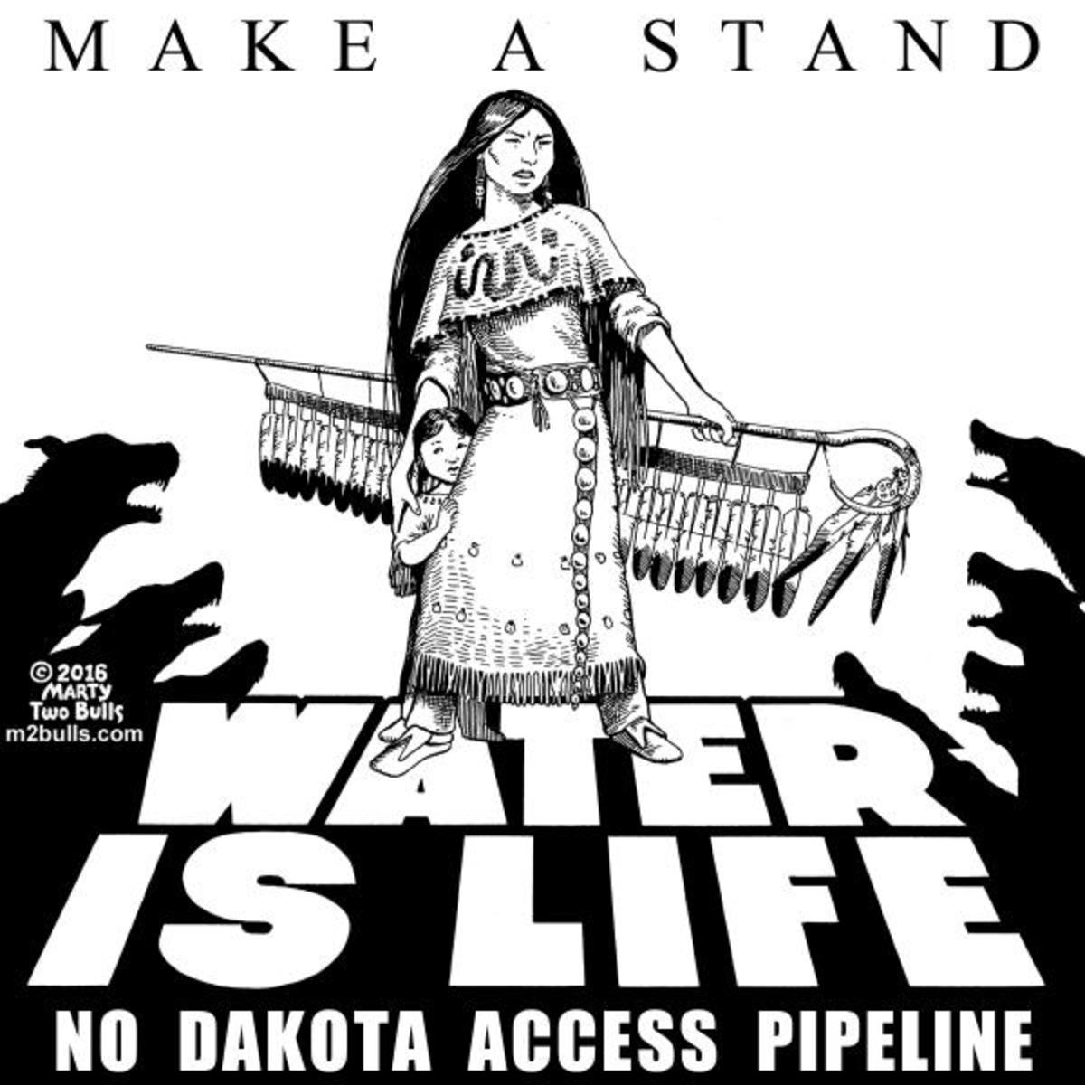 Make A Stand. Water Is Life by Marty Two Bulls, Sr.