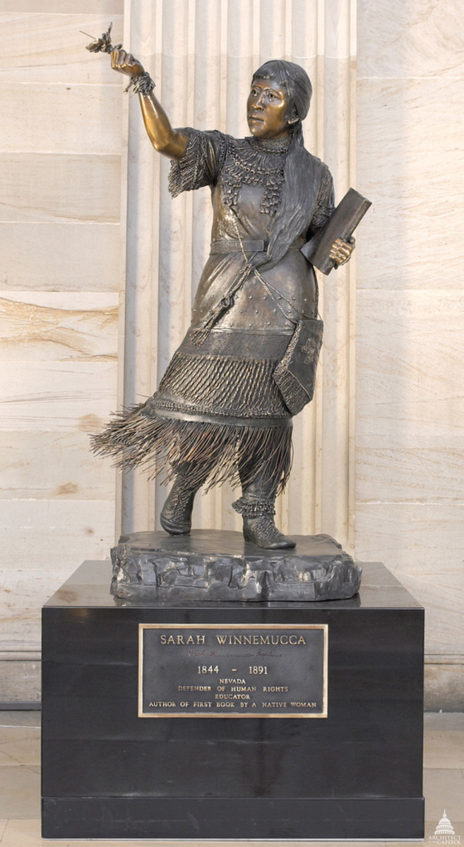 Sarah Winnemucca is one of the seven Native Americans represented in Statuary Hall in Washington, D.C.