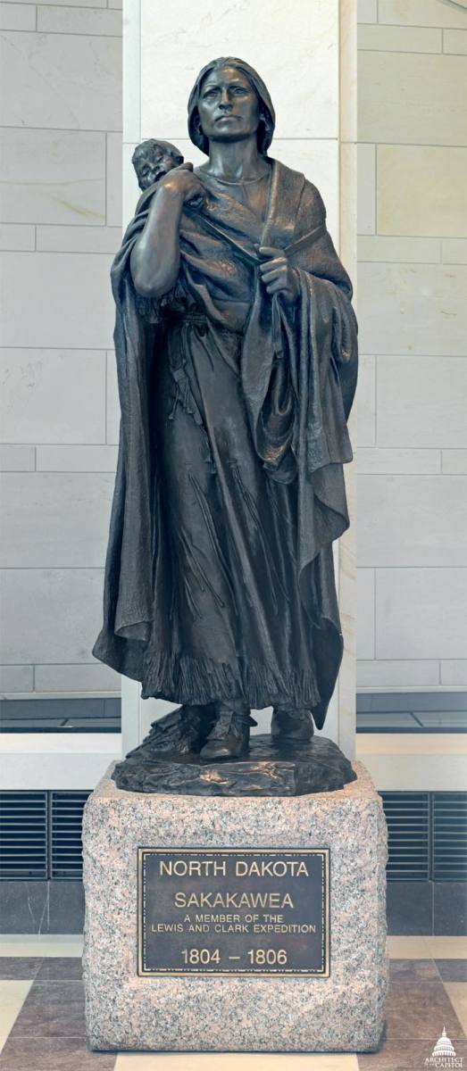 Sakakawea is one of the seven Native Americans represented in Statuary Hall in Washington, D.C.