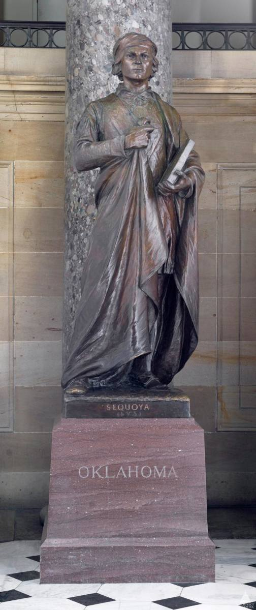 Sequoyah is one of the seven Native Americans represented in Statuary Hall in Washington, D.C. He was the first Native in the hall, placed in 1917.