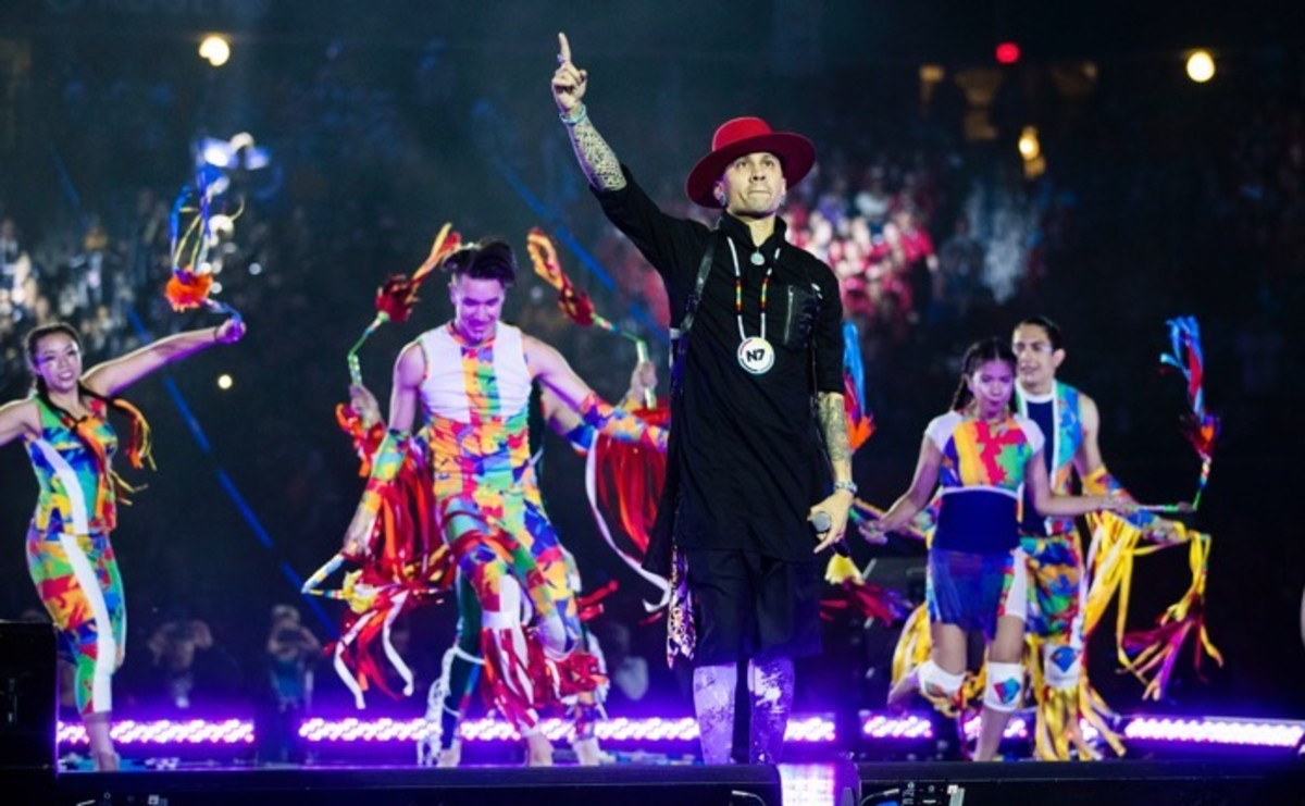 Taboo performs during the opening ceremony of the 2017 North American Indigenous Games, in Toronto on Sunday, July 16, 2017. Mark Blinch/The Canadian Press via AP