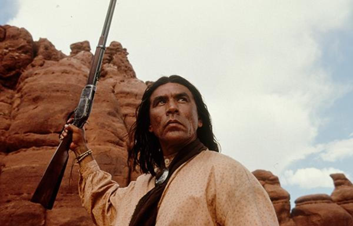 Wes Studi in a still from 'Geronimo: An American Legend'