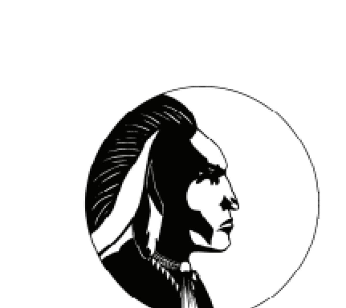 The Indian mascot of the Philomath Middle School Braves in Oregon.