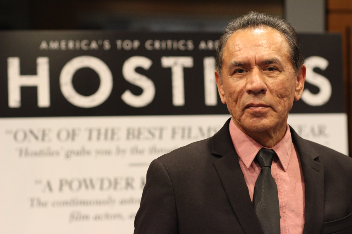 Hostiles is a movie about the world of American soldiers, white settlers, American Indians and the world that surrounded them all in 1892. Among the most notable Native actors in the film is Wes Studi, who portrays the Cheyenne Chief Yellowhawk.