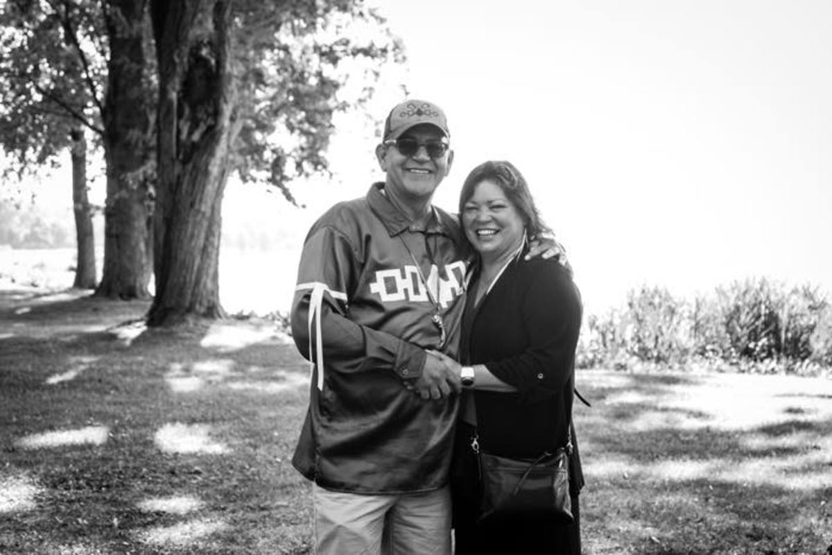 Brian Patterson and Renée Roman Nose are seen here at the Prayer Circle at Onondaga Lake held in Solidarity with Standing Rock on September 5, 2016.