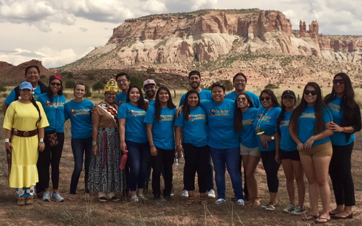 Indigenous Women – Annabell Bowen (far right) with Native students from Arizona State University
