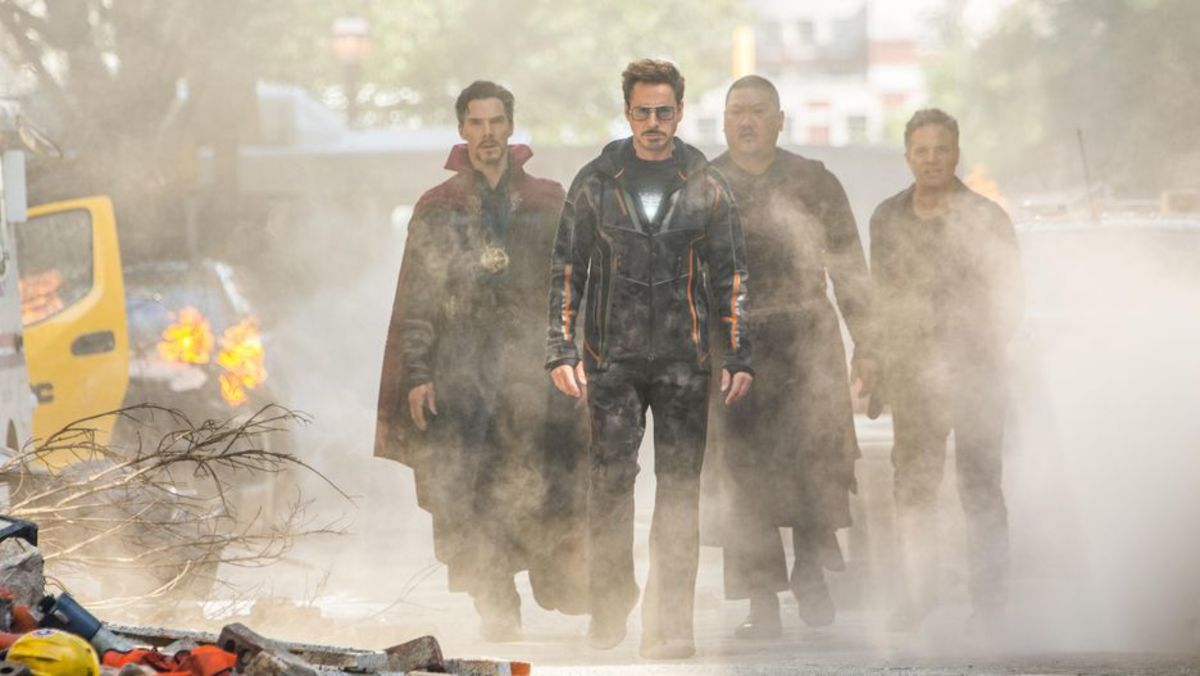 Doctor Strange, Tony Stark, Wong and Bruce Banner go to kick some Ebony Maw butt ... or do they?
