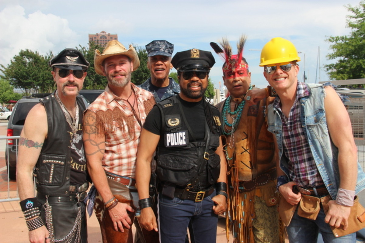 """The icons at Hampton Roads Pride and across the world, """"The Village People."""" Photo Vincent Schilling"""