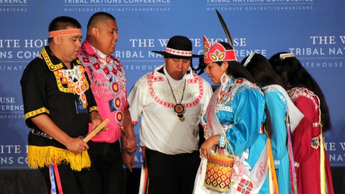 Culture performers at White House Tribal Nations Conference. Photo - Christian Gomez