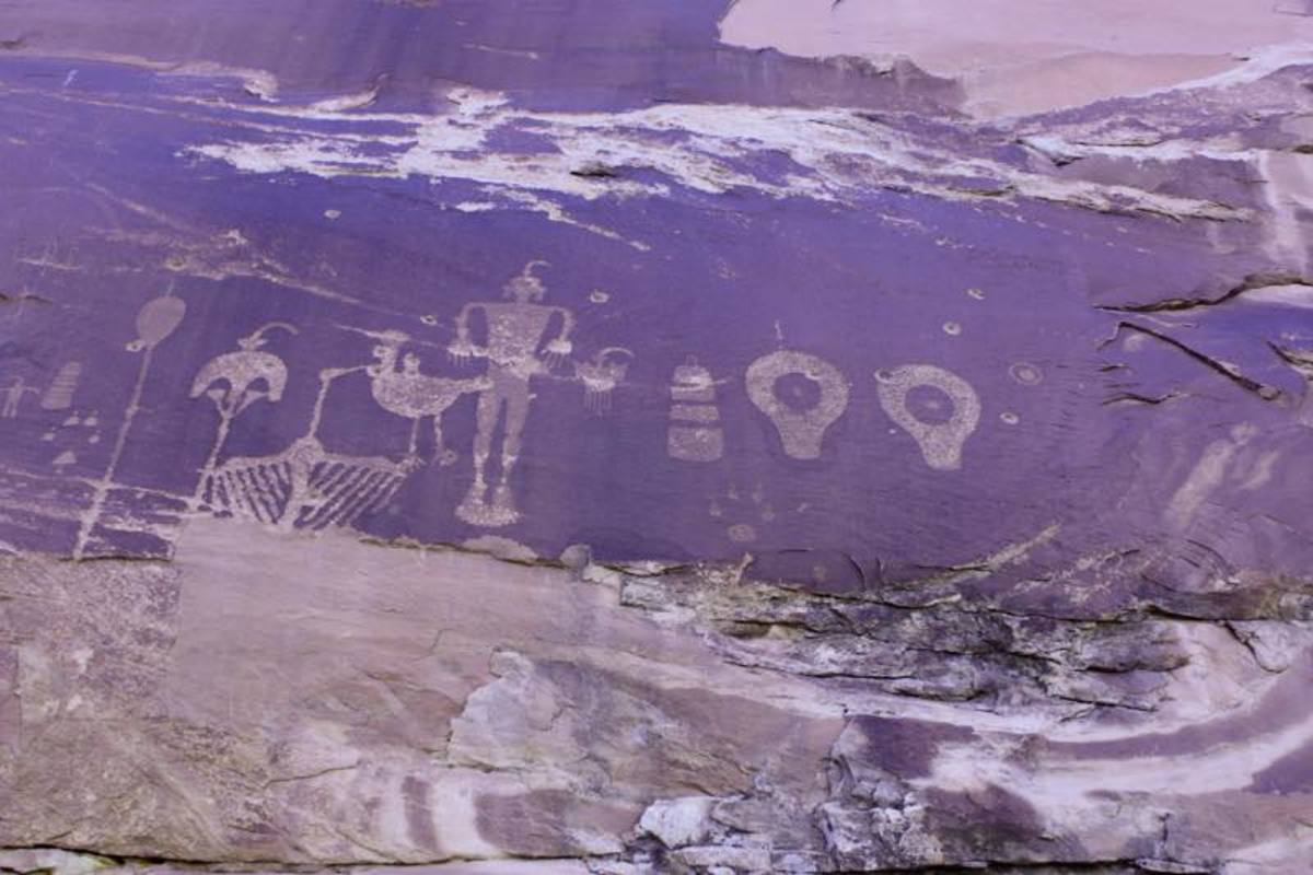 Some of the numerous petroglyphs throughout Bears Ears National Monument, under review after an executive order by President Donald Trump.