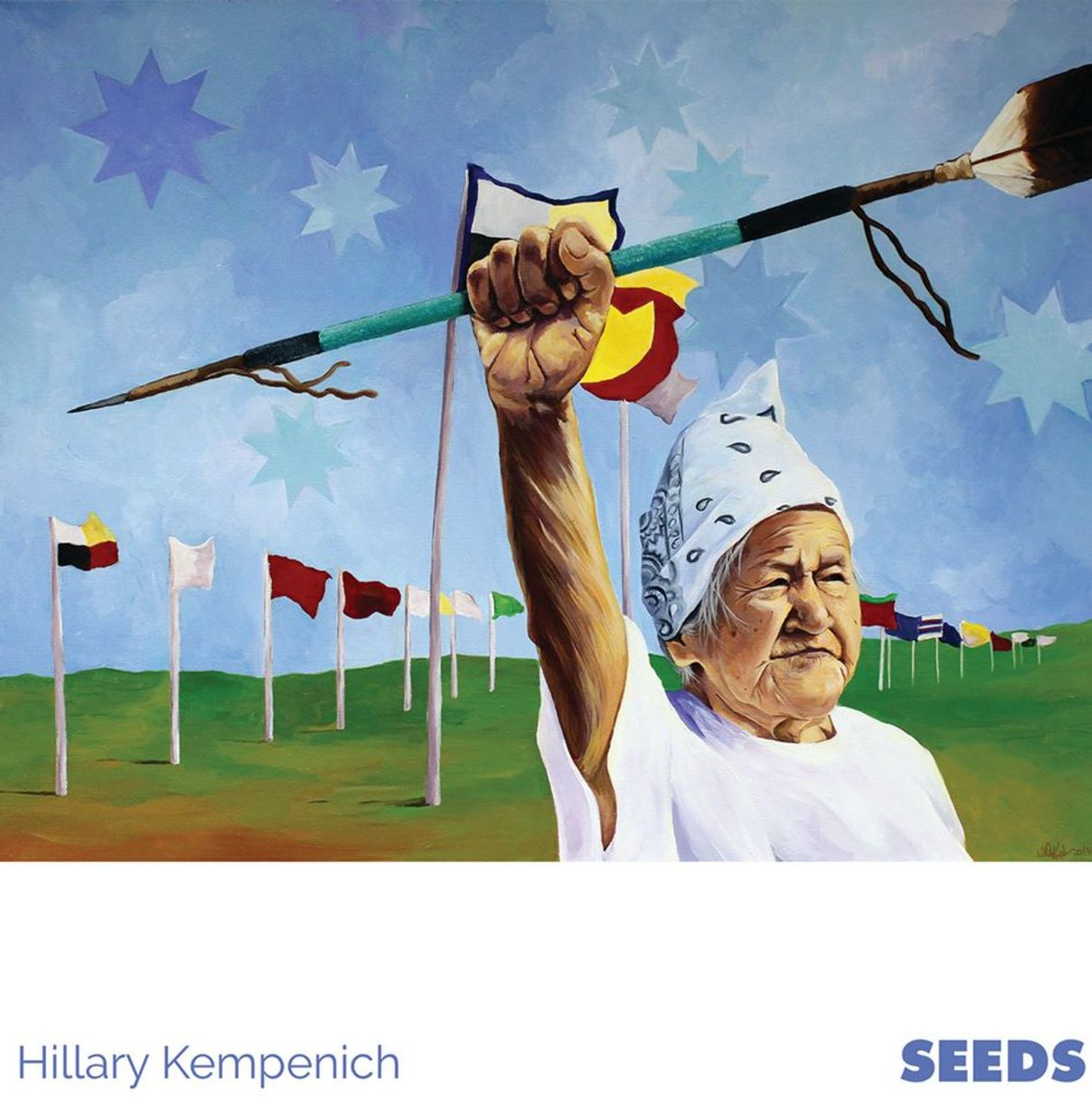 This painting by Hillary Kempenich is an example of art on display from one of over 100 artists at 'We are the SEEDS.'
