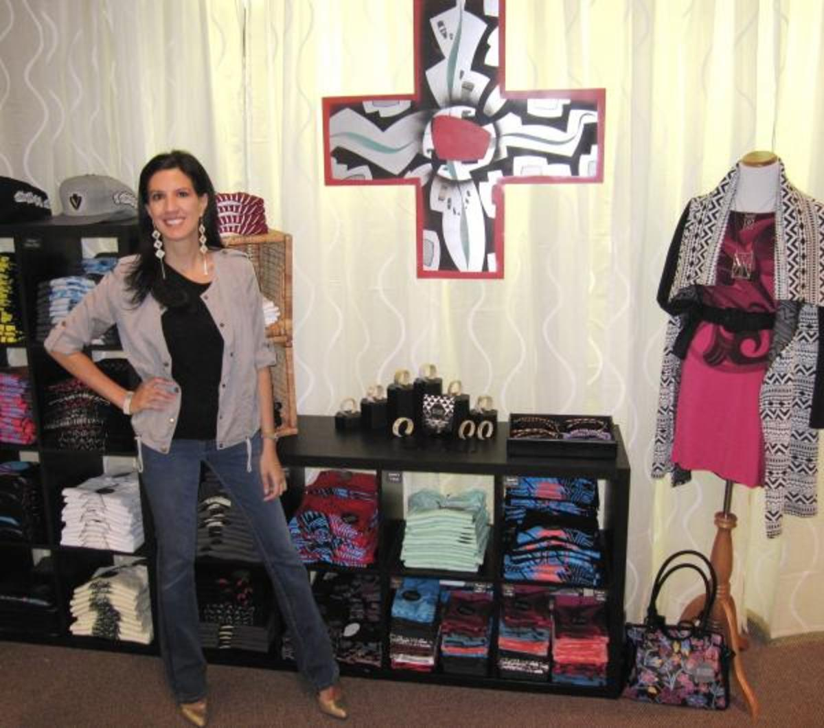 Jessica Metcalfe in her new store on the Turtle Mountain Reservation in Belcourt, North Dakota.