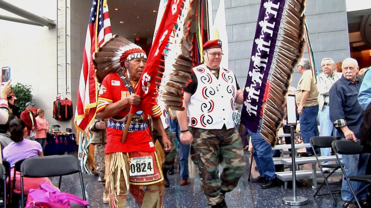 Grand Entry, Honoring the Veterans Pow Wow 2015