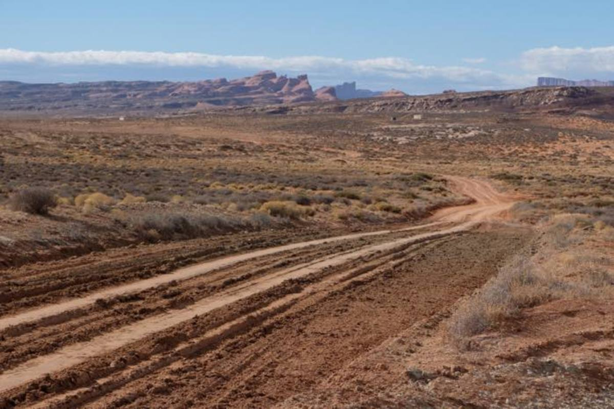 Navajo Nation has many miles of unpaved roads