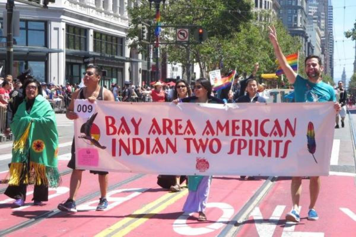 Out of the 250 groups invited to participate in this year's 46th annual SF LGBT Pride Parade, the Bay Area American Indian Two Spirits (BAAITS) was a crowd favorite.