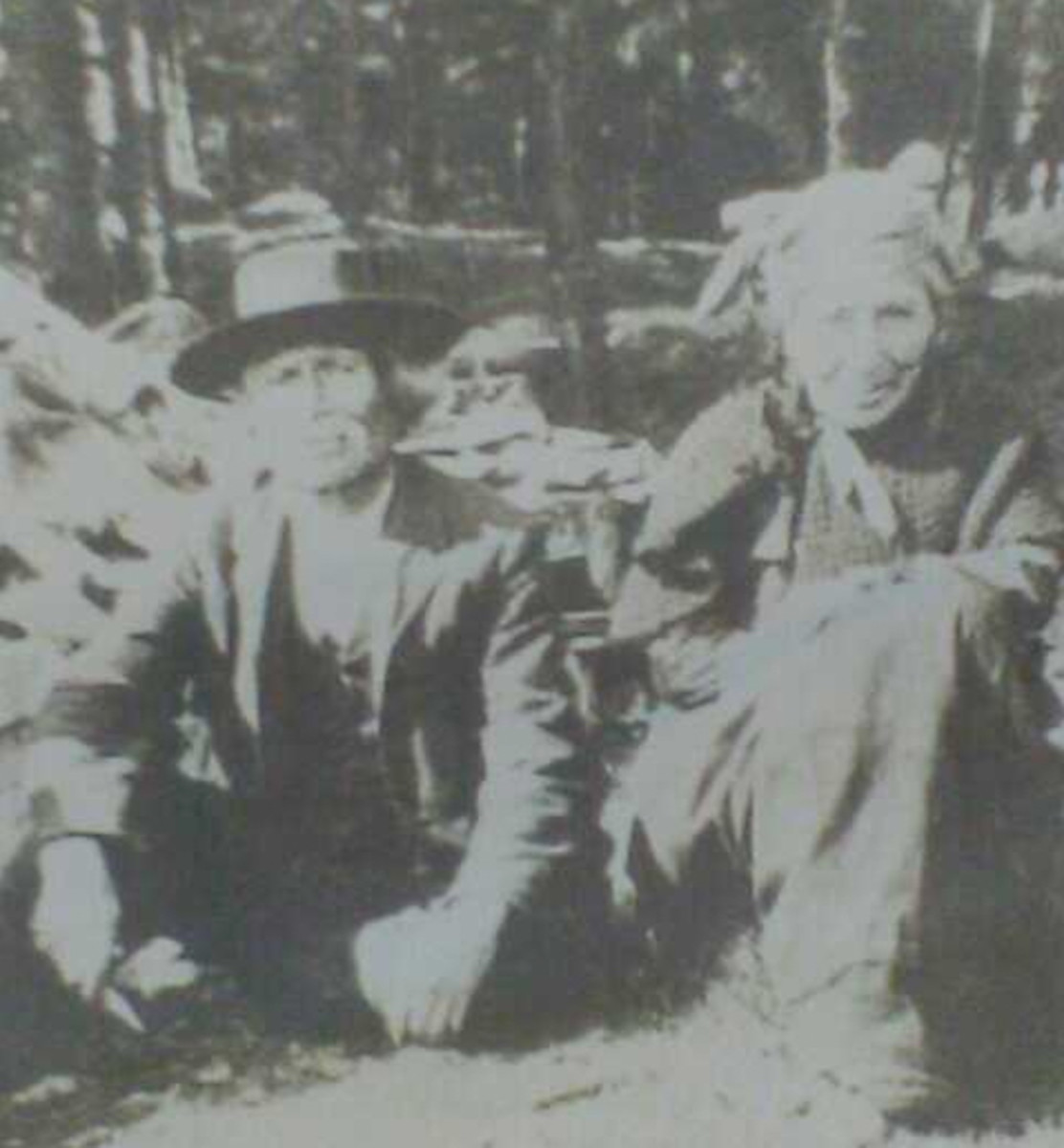 : Carol Reynolds Boyce provided this image of her Beothuk family, her Aunt Madelaine on the right and her Uncle Soolian, who was also known at William Prosper or William Sulien, on the left. Her uncle died at the age of 101 in the 1920s, at Truro Reservation, Nova Scotia.