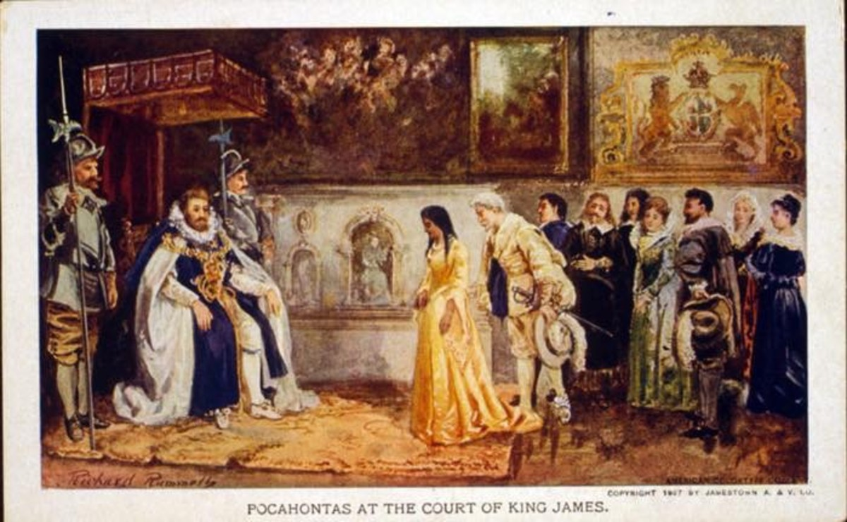 Pocahontas at Court of King James. Photo - Library of Congress
