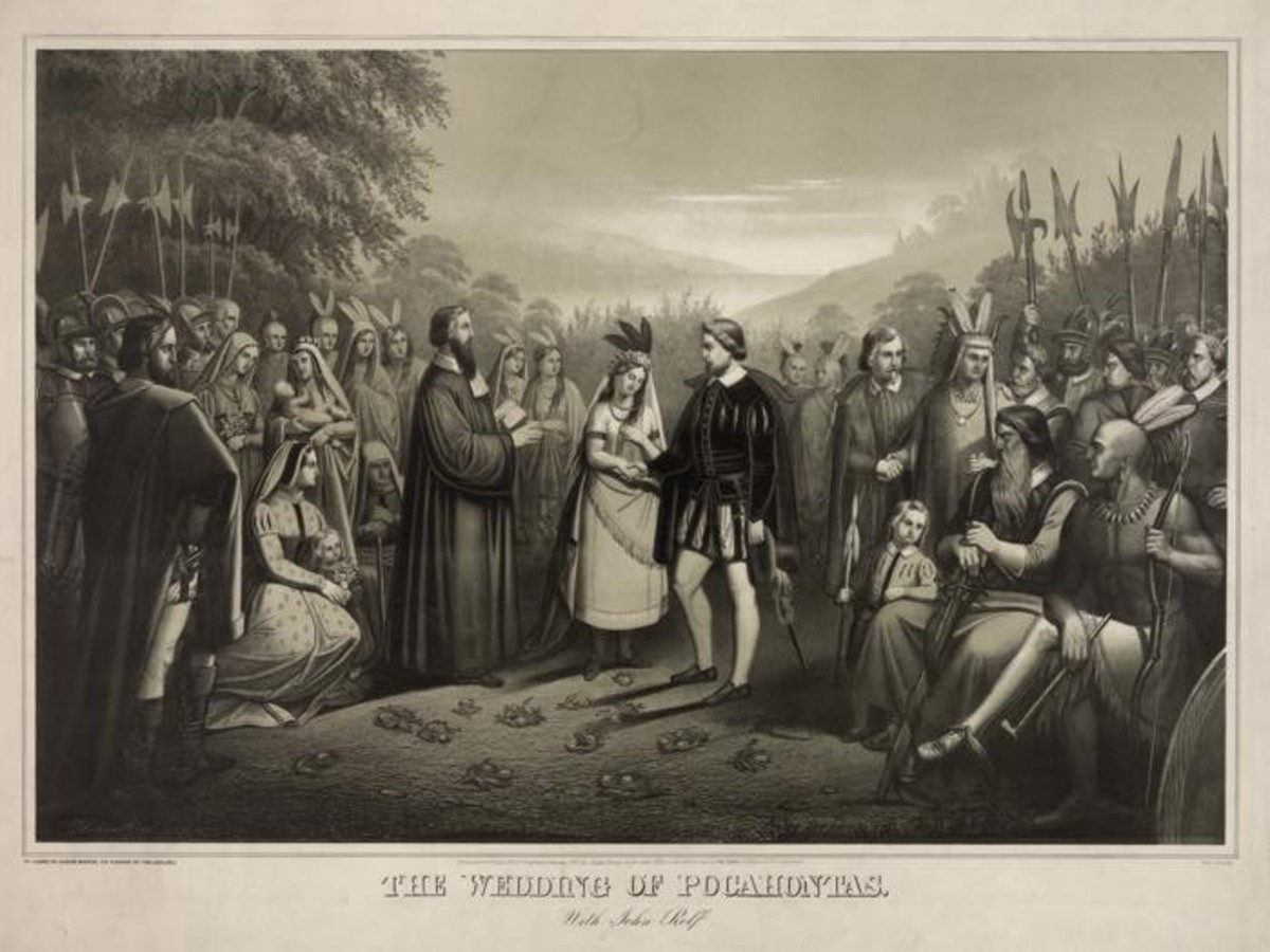 The Pocahontas wedding with John Rolfe. Photo - Library of Congress