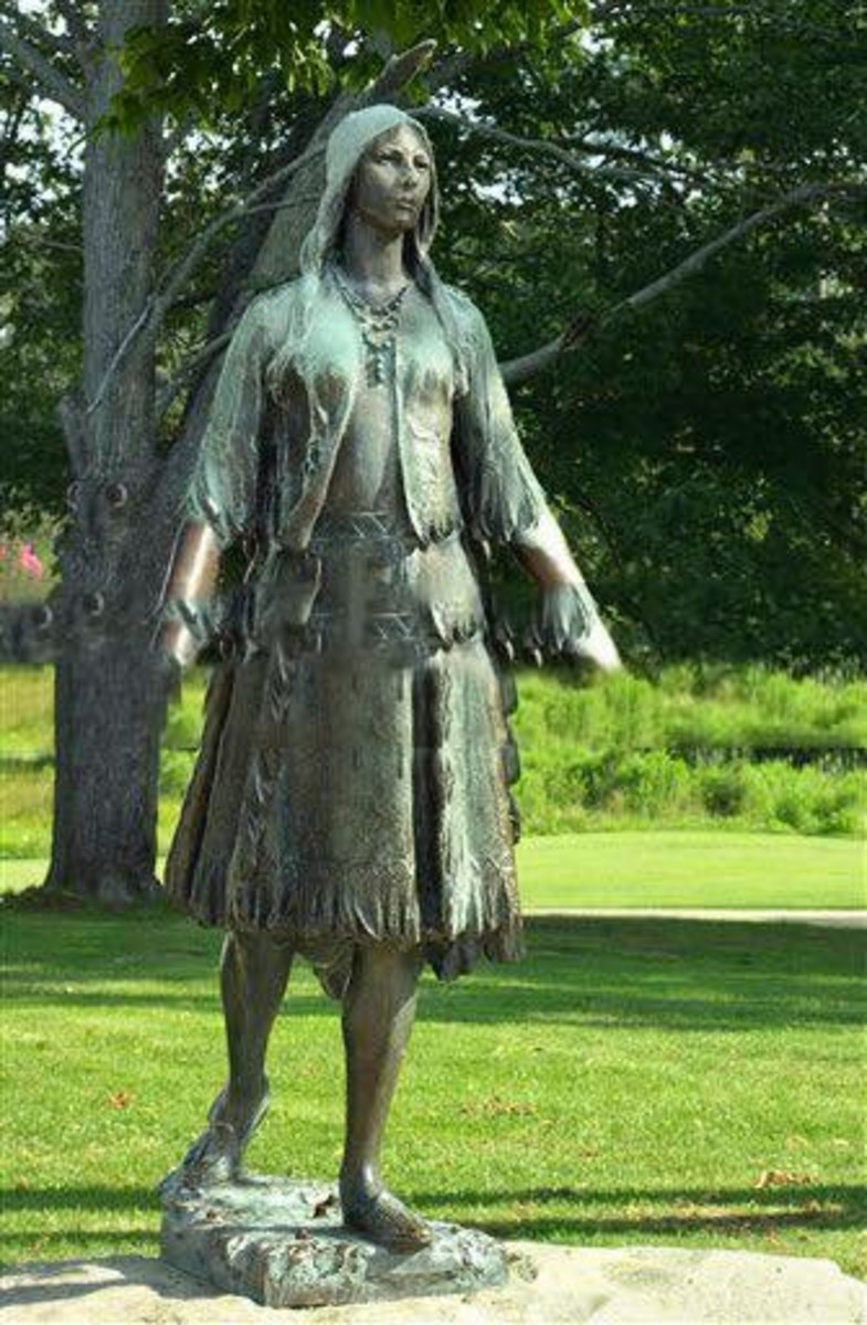 Statue of Pocahontas at the original site of Jamestown, in Colonial National Historical Park, Virginia Digital photograph . (North Wind Picture Archives via AP Images)