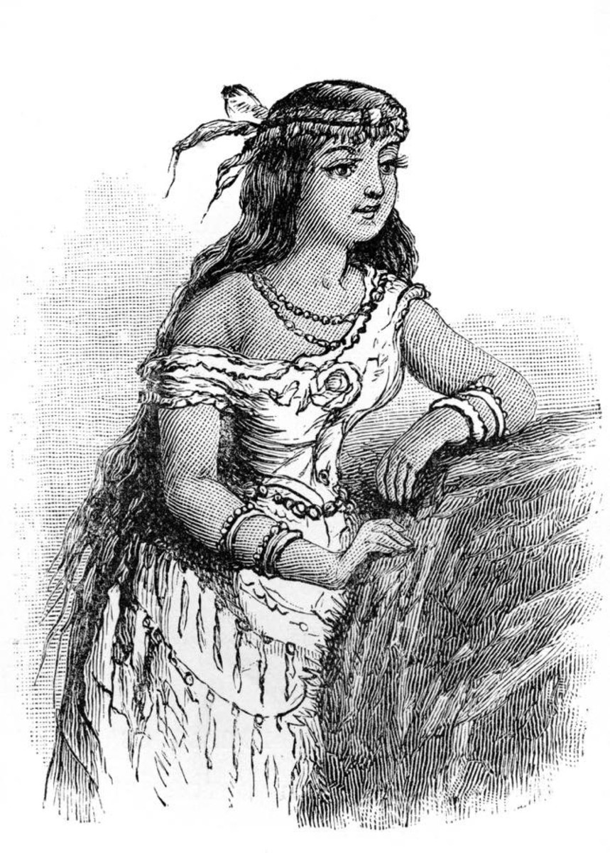 An image of a young Pocahontas. Photo - iStock