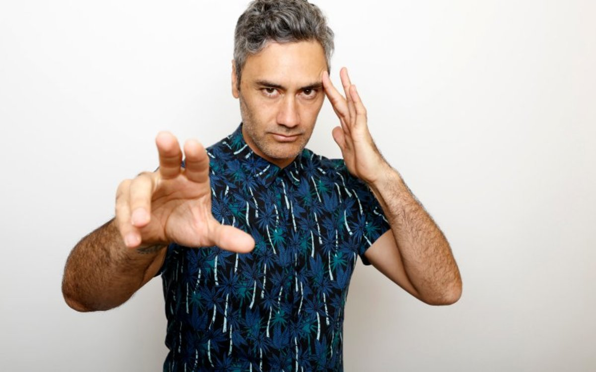 "Pictured: Oscar-winning filmmaker and actor Taika Waititi, Maori, poses for a portrait to promote the film, ""Hunt for the Wilderpeople"", at the Toyota Mirai Music Lodge during the Sundance Film Festival on Friday, Jan. 22, 2016 in Park City, Utah."