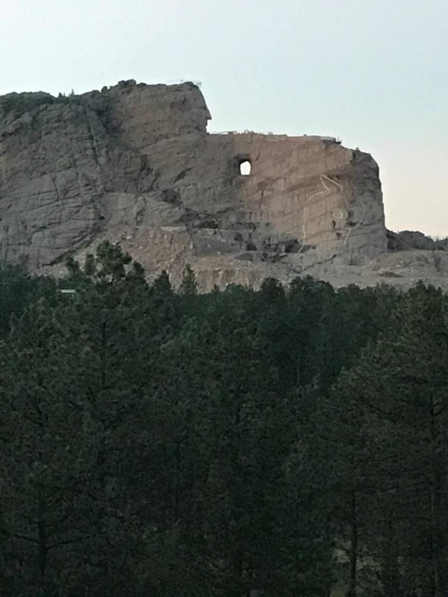 The monument to Crazy Horse