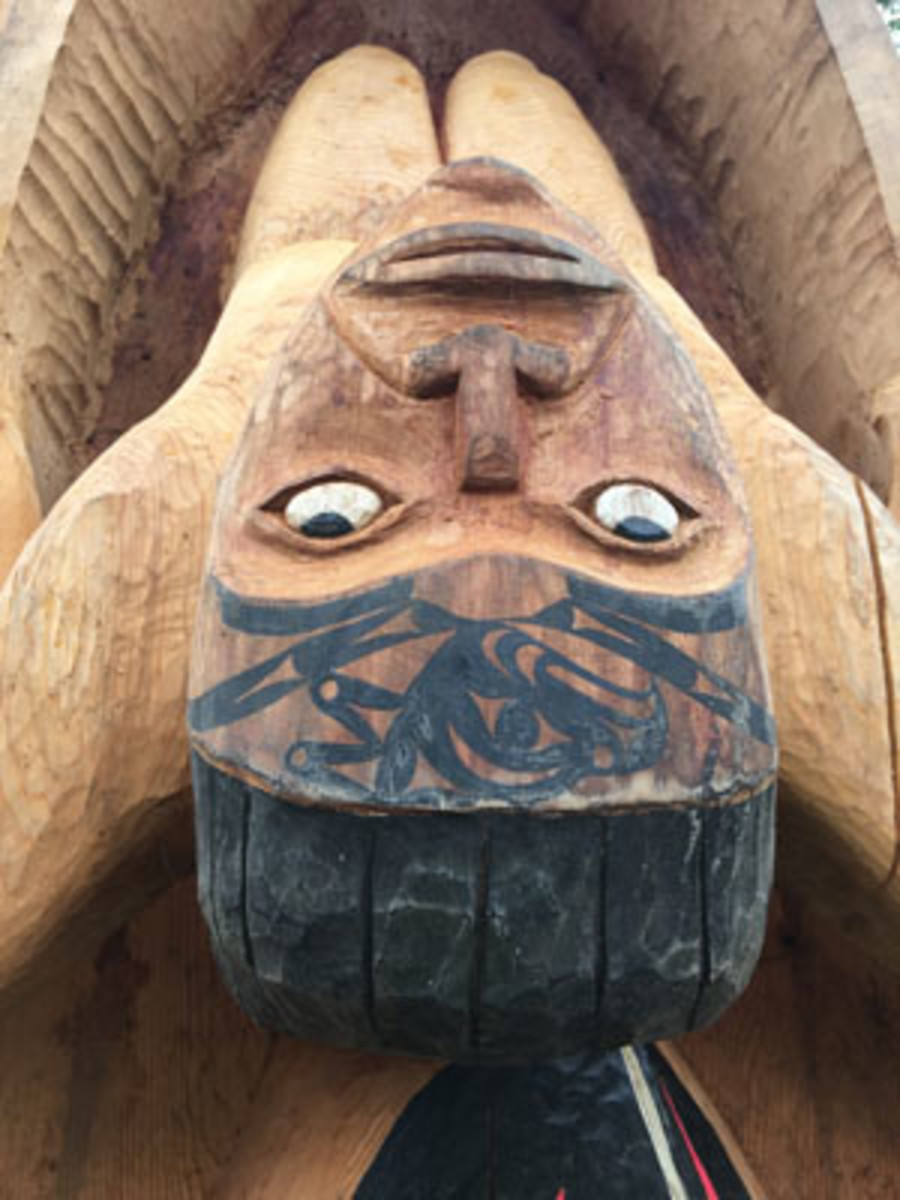 Fisherman's Dream Carved by Quinault Nation Guy Capoeman