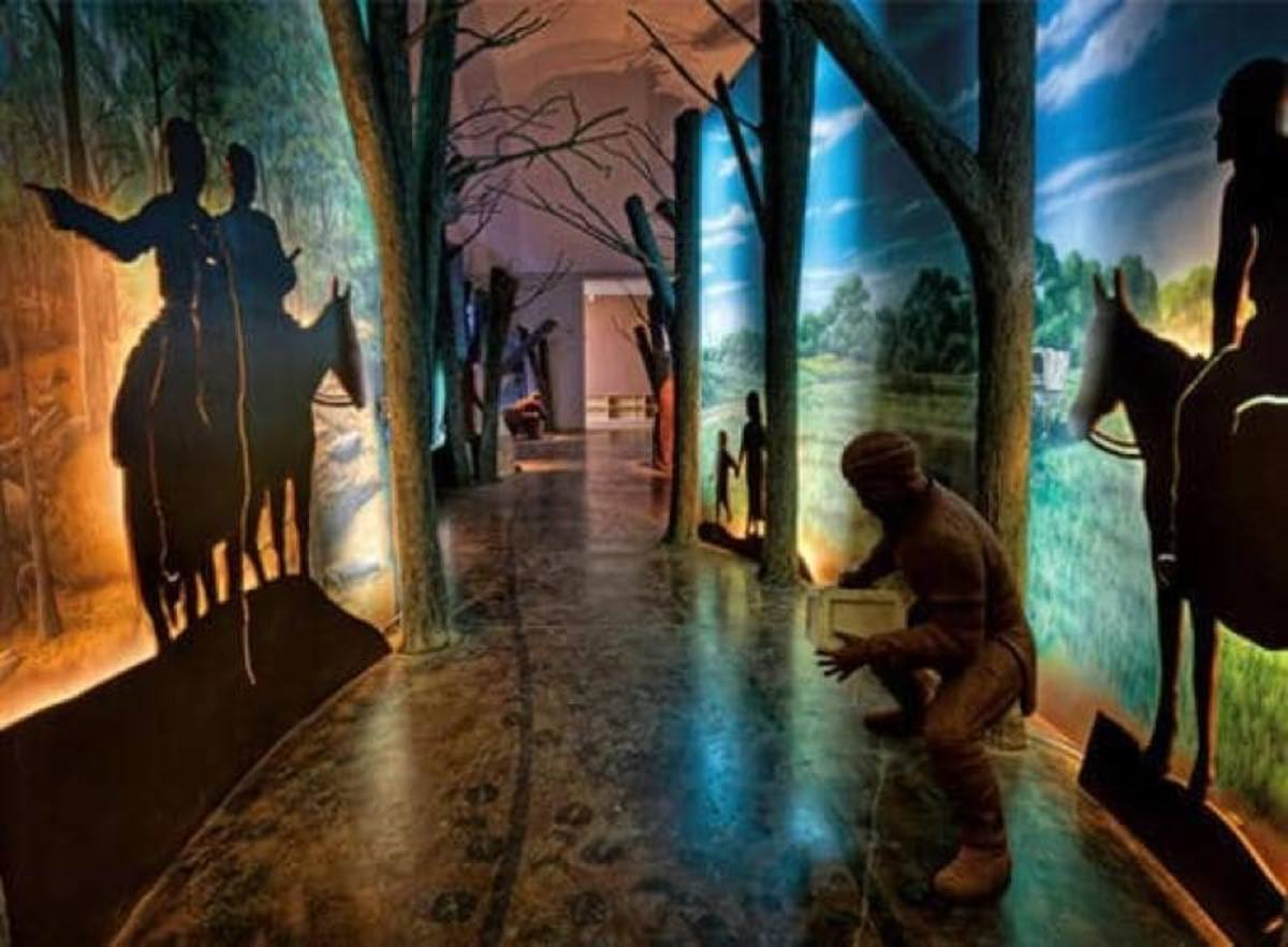 The Removal Corridor Exhibit at the Chickasaw Cultural Center.
