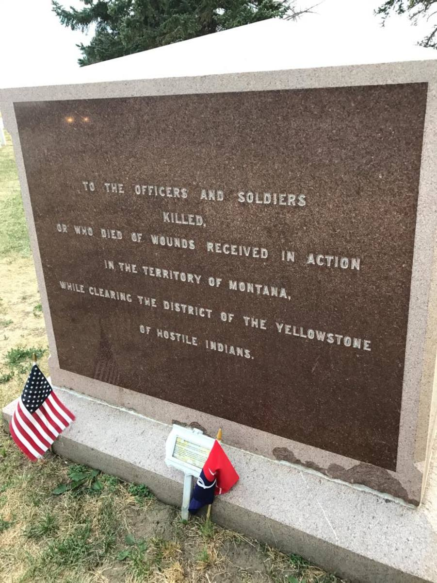 The monument at Little Bighorn