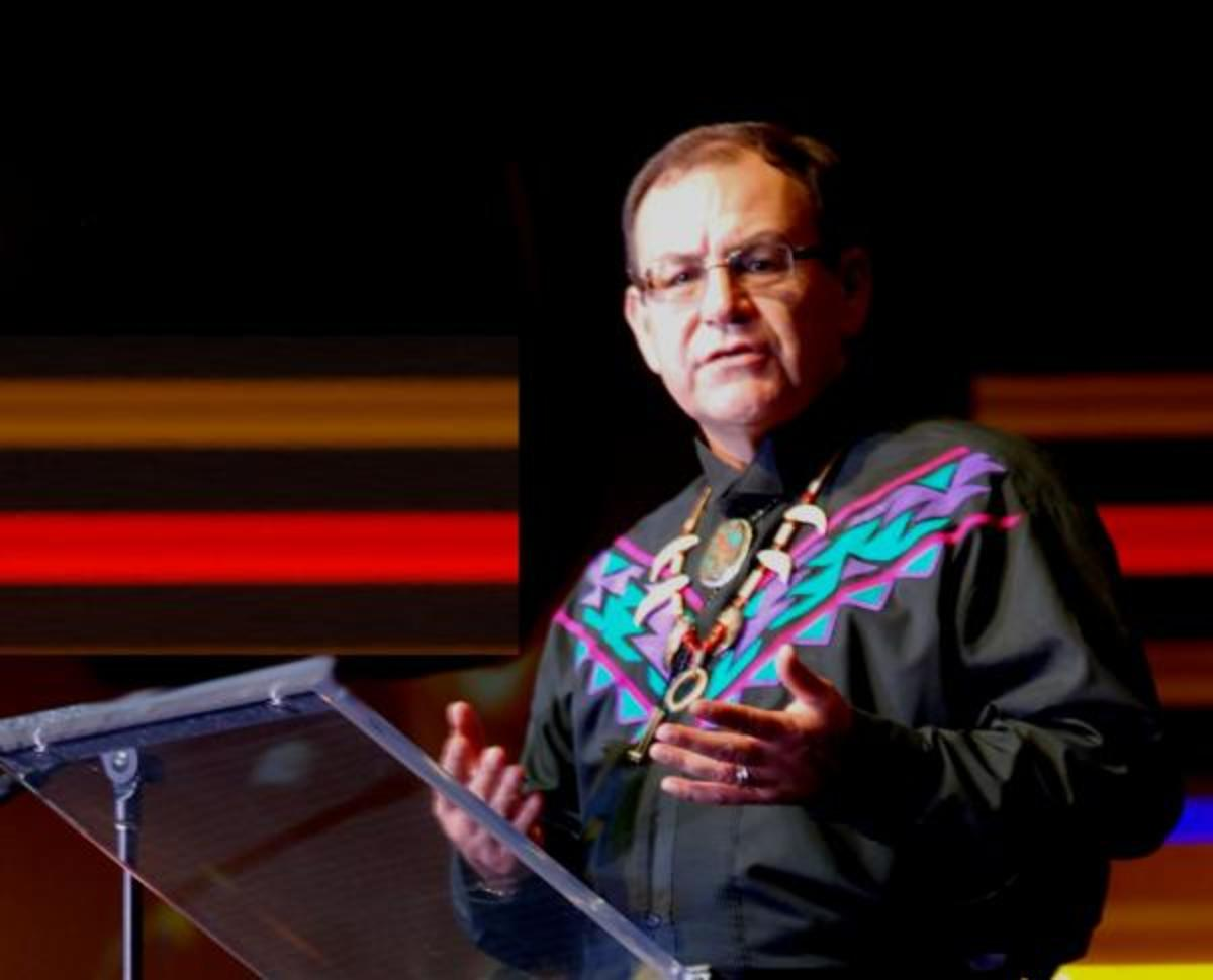 Brian Patterson (Oneida Indian Nation), the president of the United South & Eastern Tribes, addressed tribal leaders at the organization's annual conference last October.