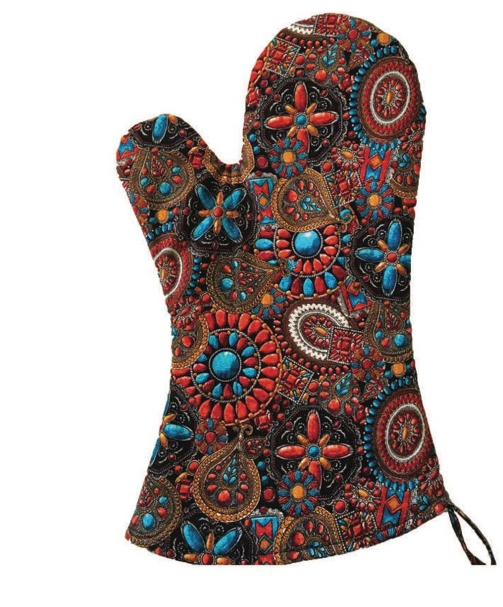 Navajo Jewelry Pattern Oven Mitts