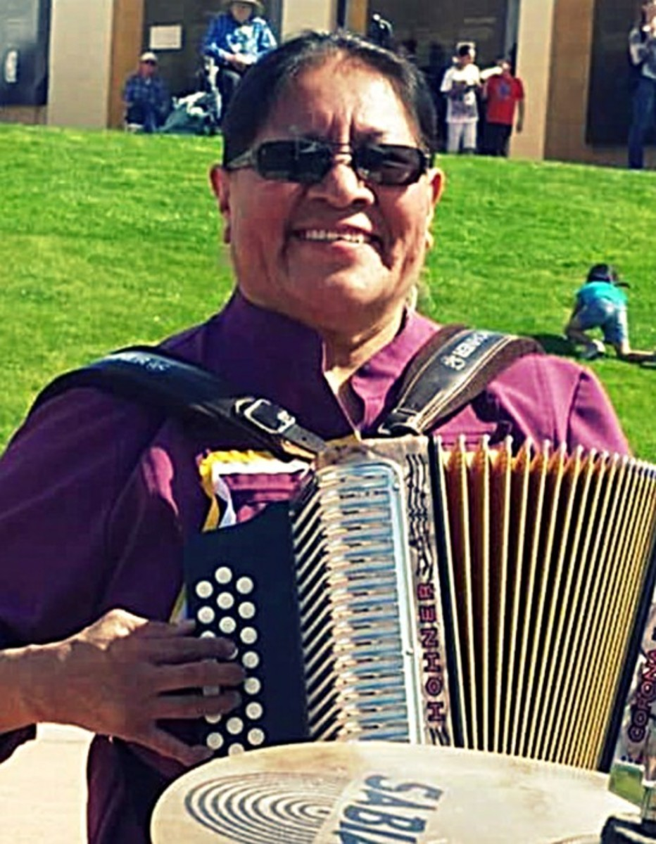 Gertie Lopez began her career with a $50 dollar button accordion.