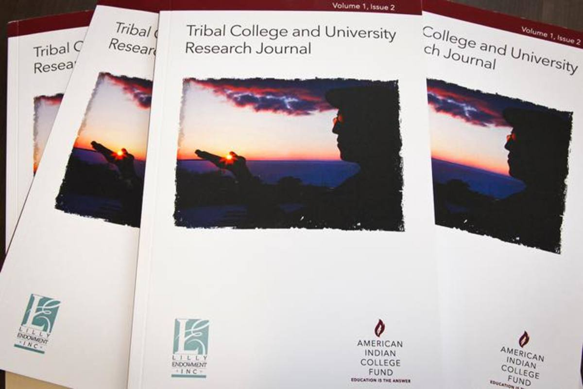 """The """"Tribal College and University Research Journal,"""" Volume I, Issue 2 was released at the conference. The journal was first published in paper and electronic format by the American Indian College Fund in 2016 with financial support from the Lilly Endowment. All editions can be accessed on the College Fund's web site."""