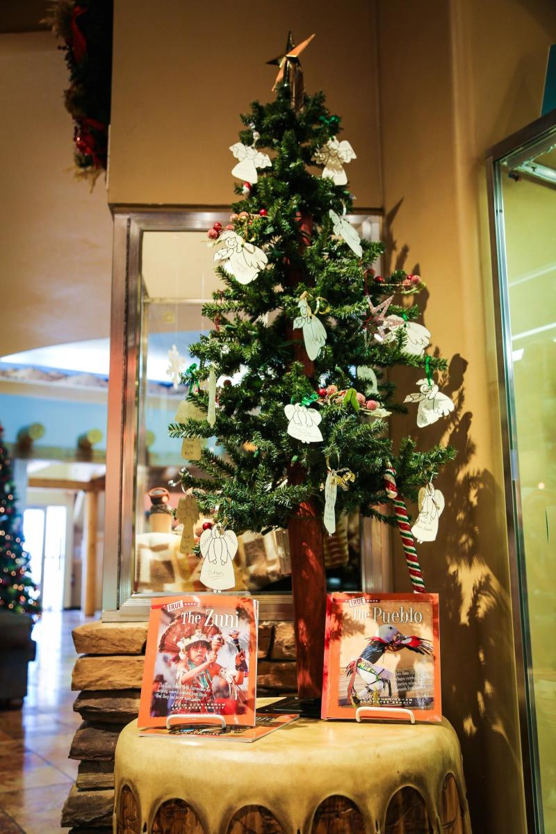 Giving Tree at Shumakolowa Native Arts inside the Indian Pueblo Cultural Center