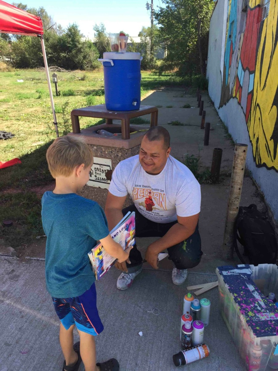 Scape Martinez will lead a four-day graffiti art camp starting May 30th benefiting Native Youth in Eagle Butte. Courtesy Cheyenne River Youth Project.