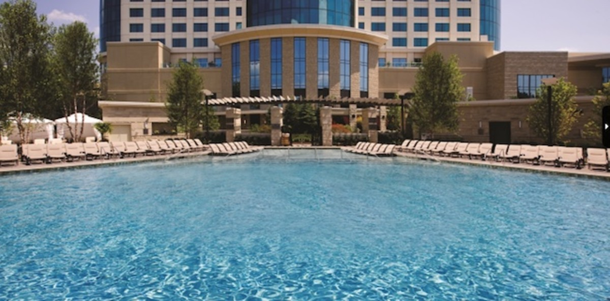The Fox Pool at the highly popular Fox Tower at Foxwoods Resort Casino in Connecticut