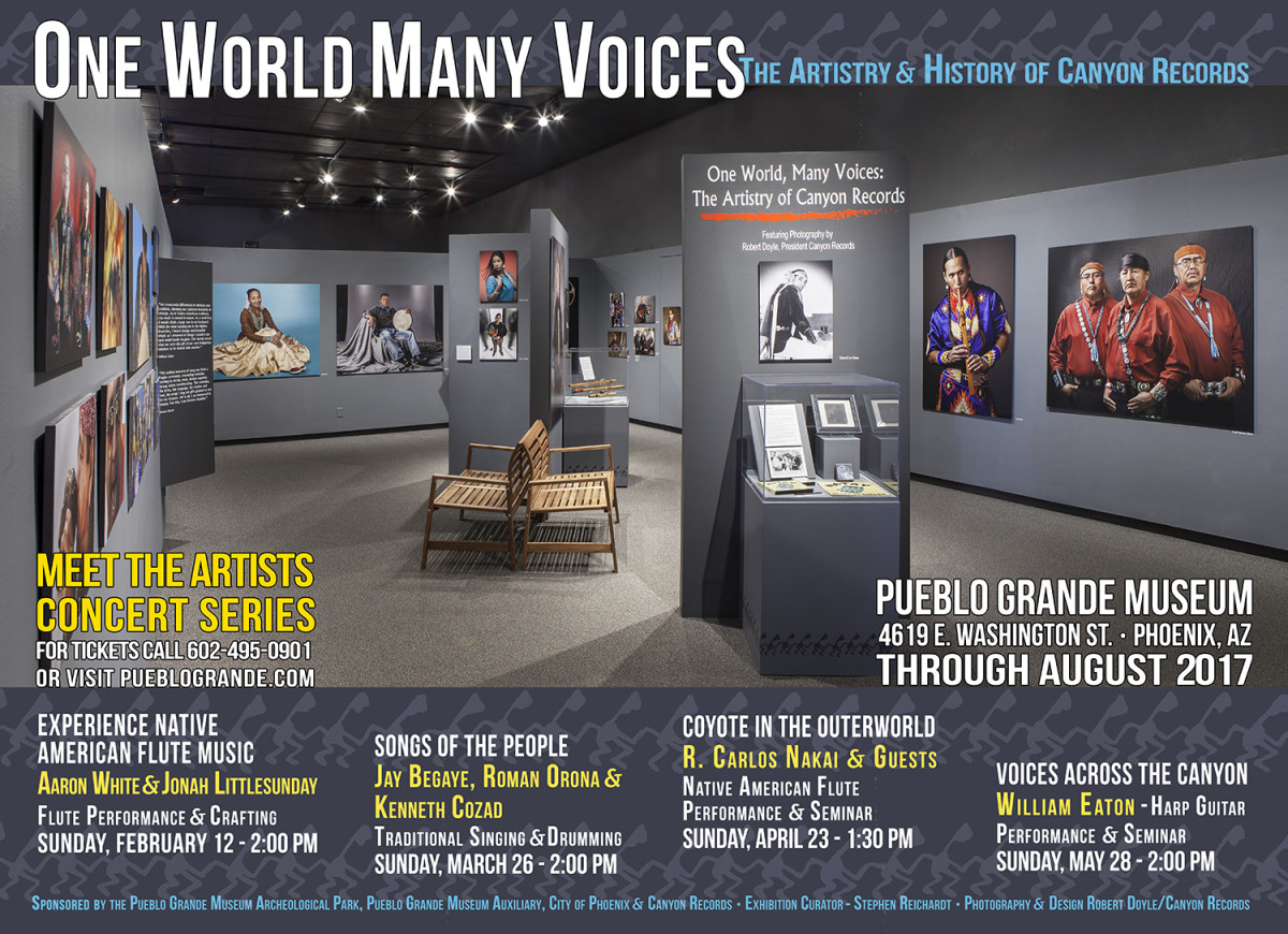 'One World, Many Voices' is now on exhibit at the Pueblo Grande Museum - Courtesy Canyon Records
