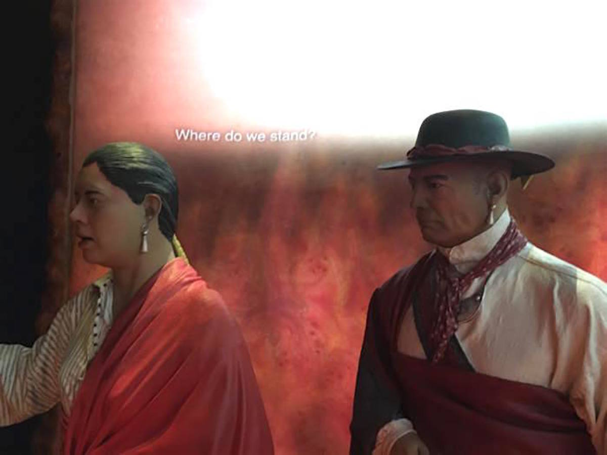 Han Yerry and his wife Two Kettles Together are two of the life-size models portrayed in the exhibit that tells the story of the life-changing decision the Oneida Indian Nation made to join the rebels in their war for independence. The two both fought at the Battle of Oriskany.