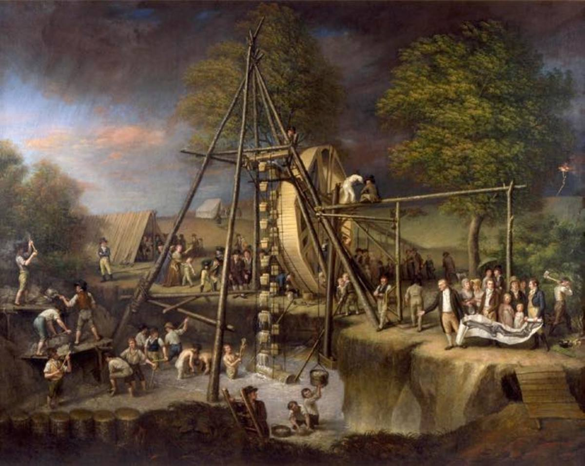 """Charles Wilson Peale's 1808 painting, Exhumation of the Mastodon, portrays Peale and his crew digging for fossils in New York State. Like most antiquarians of the day, Peale was a polymath, being one of America's foremost painters, a politician, as well as solider who fought in the Revolutionary War. Peale would unearth the first complete mastodon skeleton in 1801 and display it in a museum he created in Philadelphia. Since this was long before the orthodoxy took hold, as part of his mastodon exhibit Peale felt free to include an Indian legend; """"Of this animal, it is said the following is a Tradition, as delivered in the very terms of a Shawanee Indian."""" The tradition began by stating that, """"Ten thousand moons ago, when nought but gloomy forests covered this land of the sleeping sun . . . a race of animals were in being, huge as the frowning Precipice. . ."""""""
