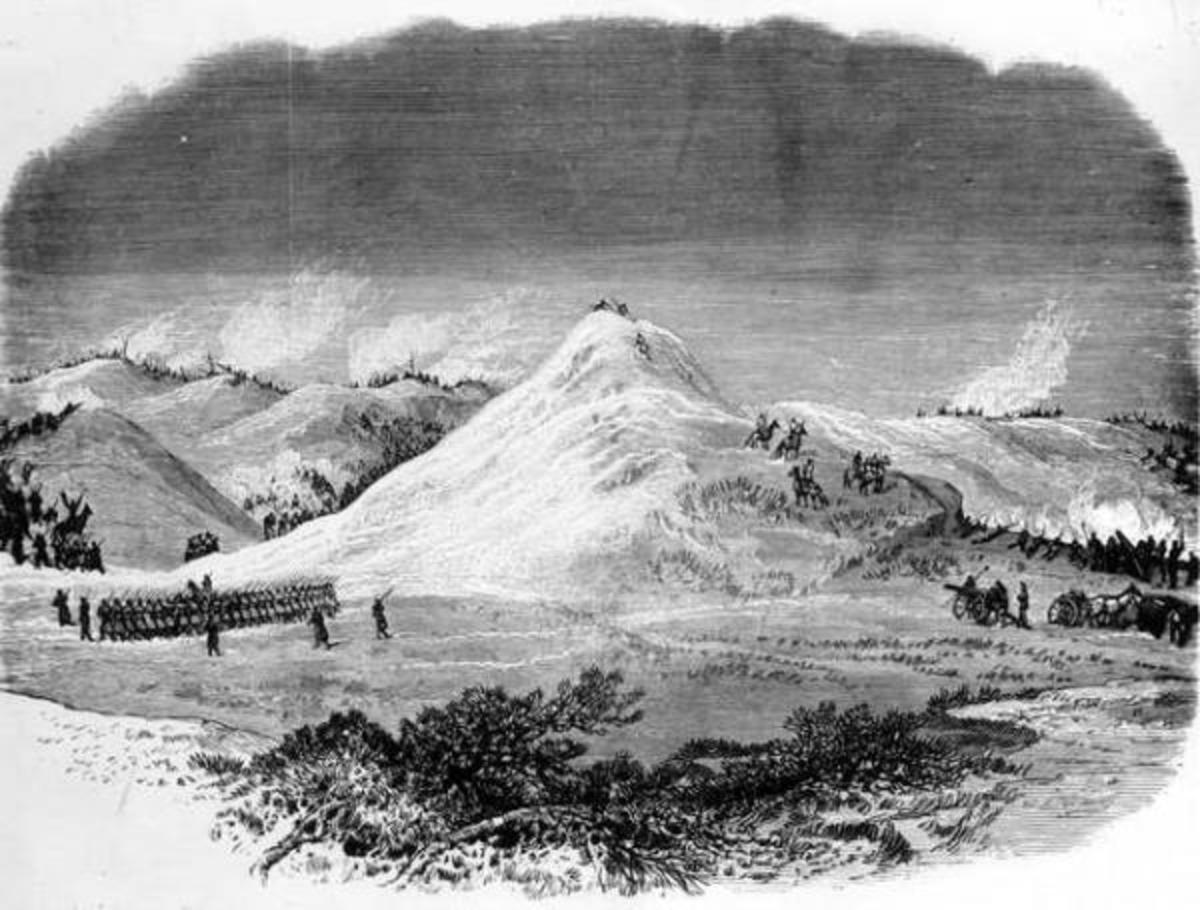 This photoprint of an illustration of the Battle of Wolf Mountain appeared in Frank Leslie's Illustrated Newspaper on May 5, 1877.