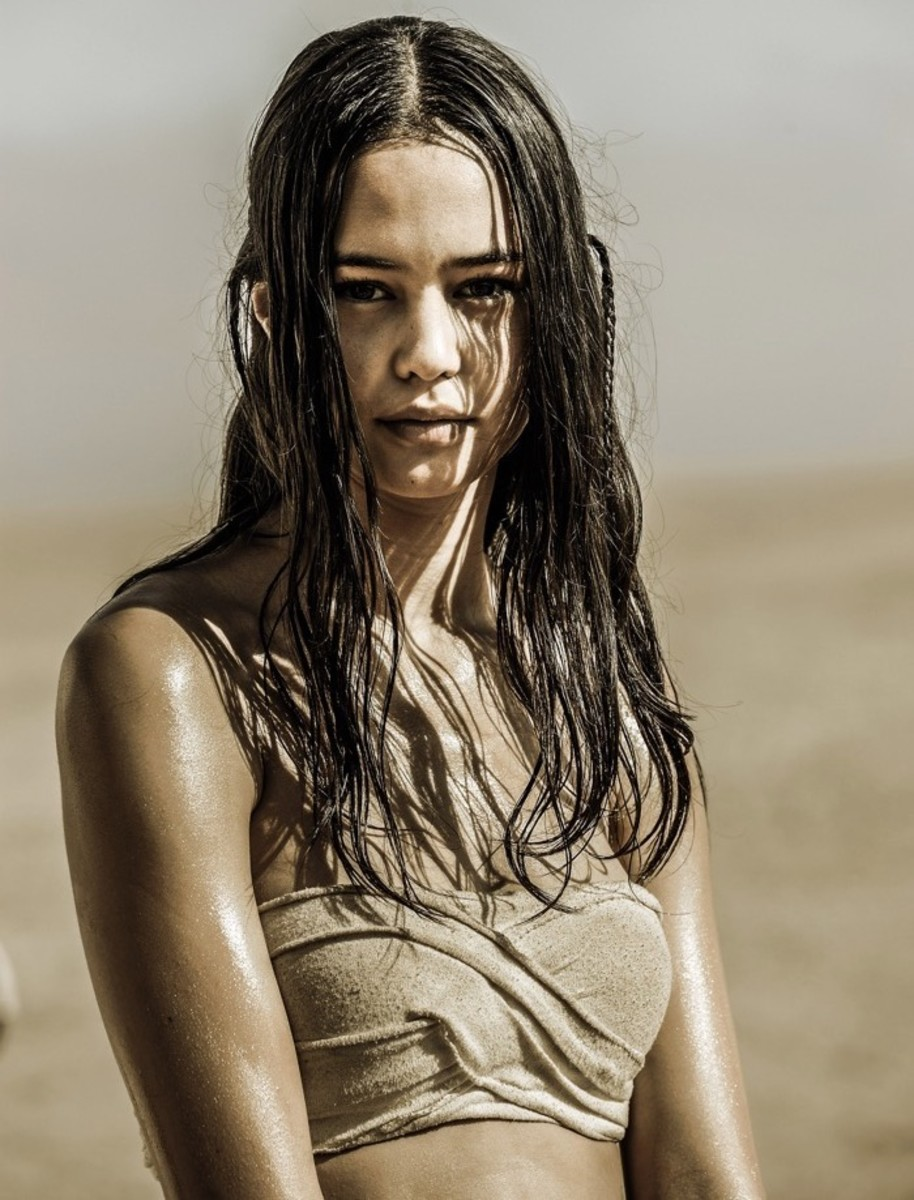 Cheedo the Fragile (Maori, Cook Islander) in Mad Max: Fury Road - played by Courtney Eaton - Photo credit: Jasin Boland/©Warner Bros./Courtesy Everett Collection - Indigenous Women Characters