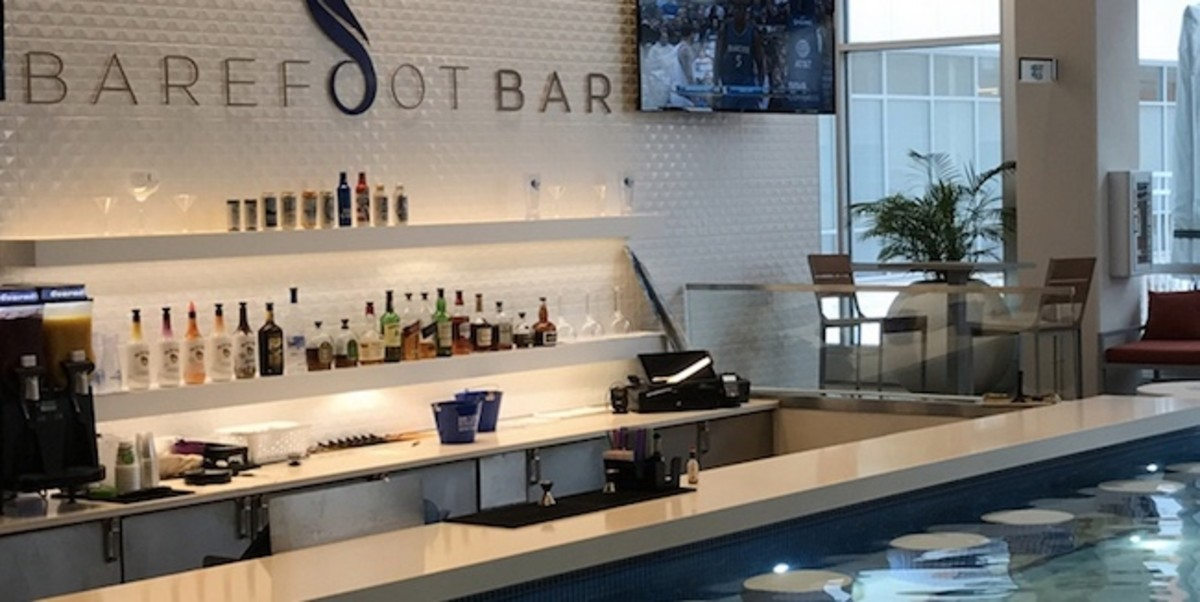 Belly up to Barefoot Bar at Treasure Island Resort & Casino, located in the adults-only section of The Lagoon.