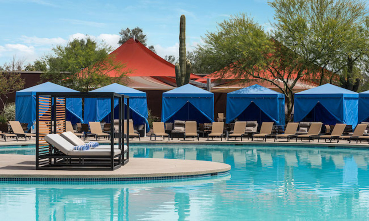 Do poolside right at Talking Stick in a private cabana.