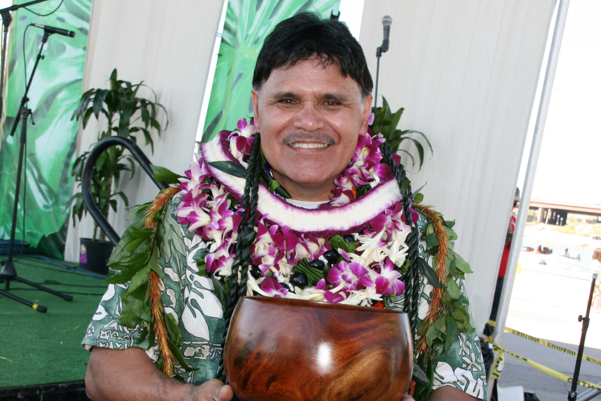 """The Kokua Award, given to a member or members of the Arizona Pacific Islander community who epitomizes the spirit of kokua, or """"pitching in"""" was awarded to Rudy Dolfo Hawaiian, a lifelong musician who has served as a counselor at a residential treatment center for tribal youth on the Gila River Indian Community for more than 20 years. Deb Krol - Arizona Aloha Festival"""