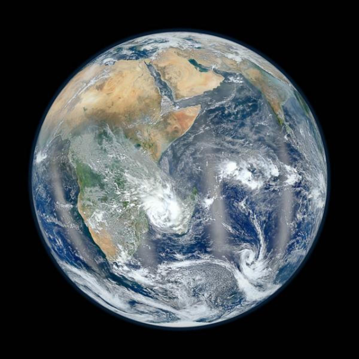 This view, the second released by NASA in a week, shows the Eastern Hemisphere, almost the same view as the iconic 1972 photo.