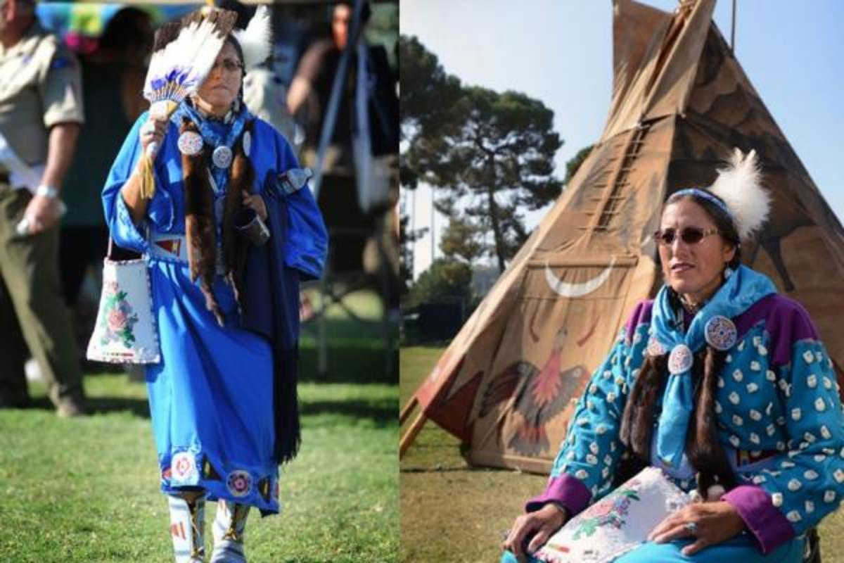 Retired United States Navy Chief Petty Officer, Linda Old Horn-Purty, a member of the Crow tribe from the Crow Agency, Montana reservation, and the Head Woman Dancer. Joining the military for her was about the perks, whatever the reason, it's another of many options for Native American youth.