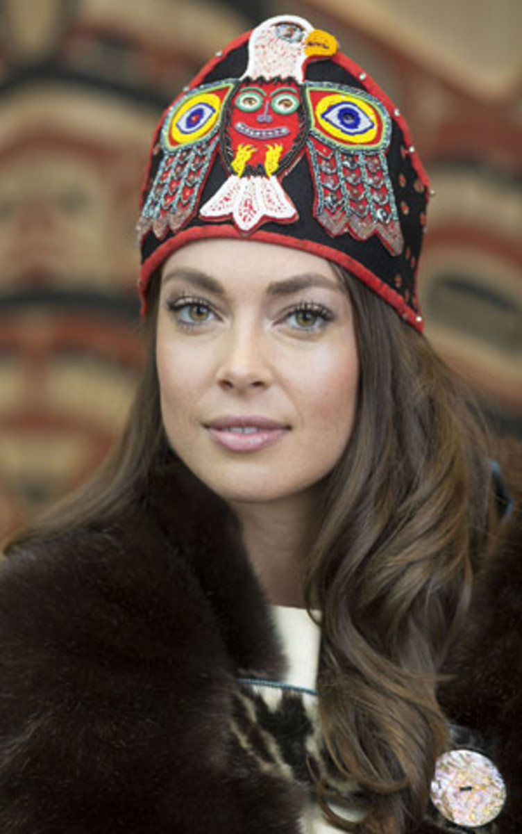 """Alyssa London, Tlingit, who won the Miss Alaska USA pageant in 2017, has written a children's book about growing up in a multicultural family, """"Journey of the Freckled Indian."""" A series of books and a television shows is now planned. (Photo by Brian Wallace, courtesy of Sealaska Heritage Institute)"""