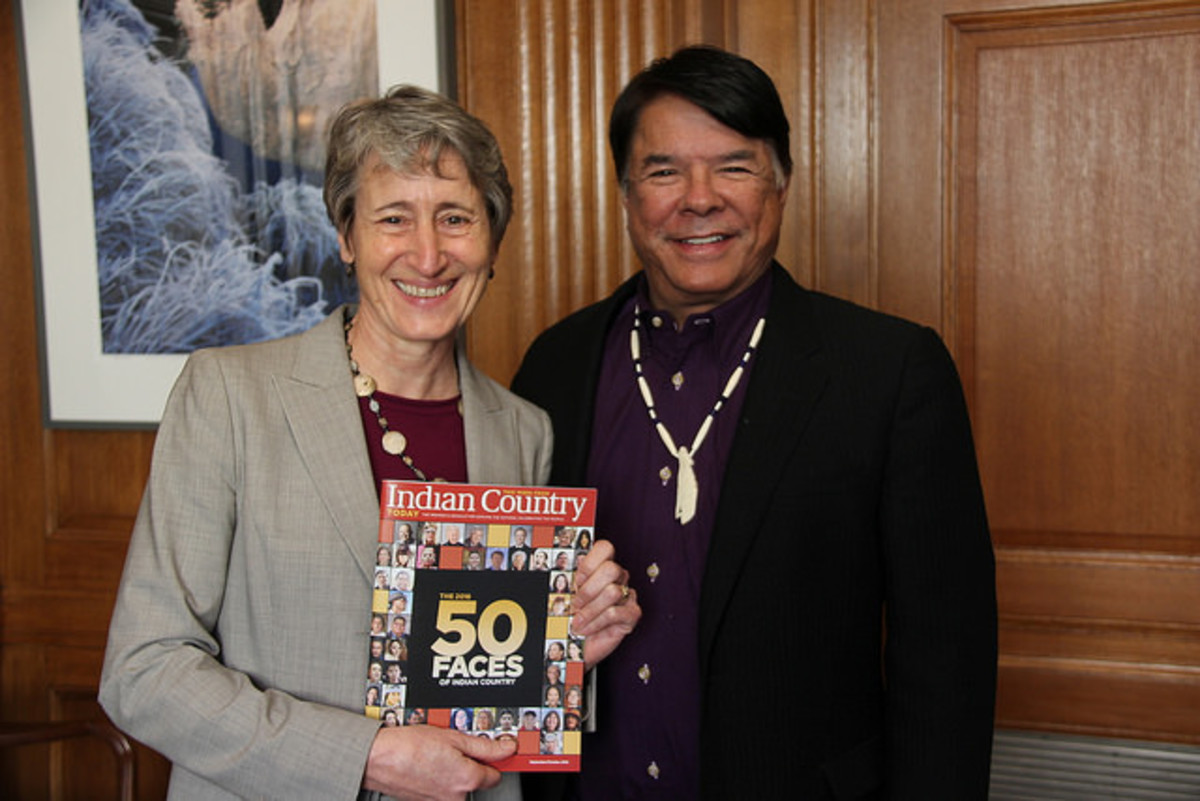 Sally Jewell and Ray Halbritter, ICMN publisher January 18, 2017