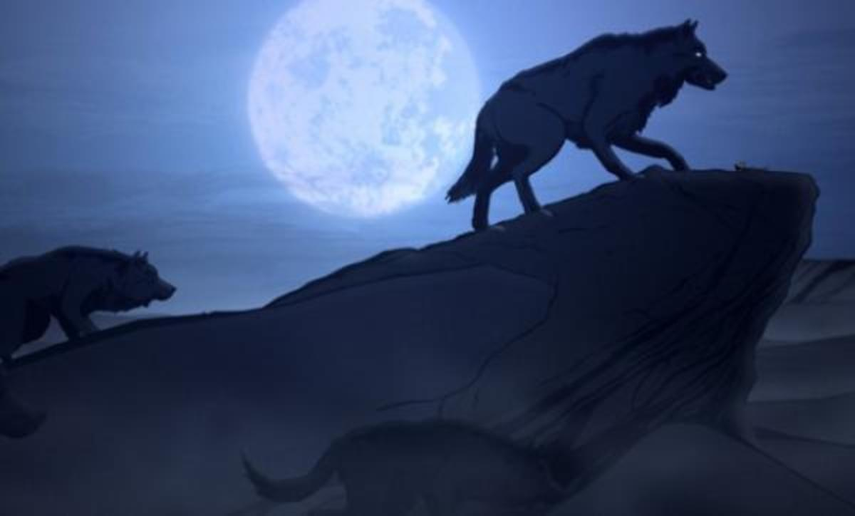 Still from A Country of Wolves, one of the animated shorts that screened at the festival.