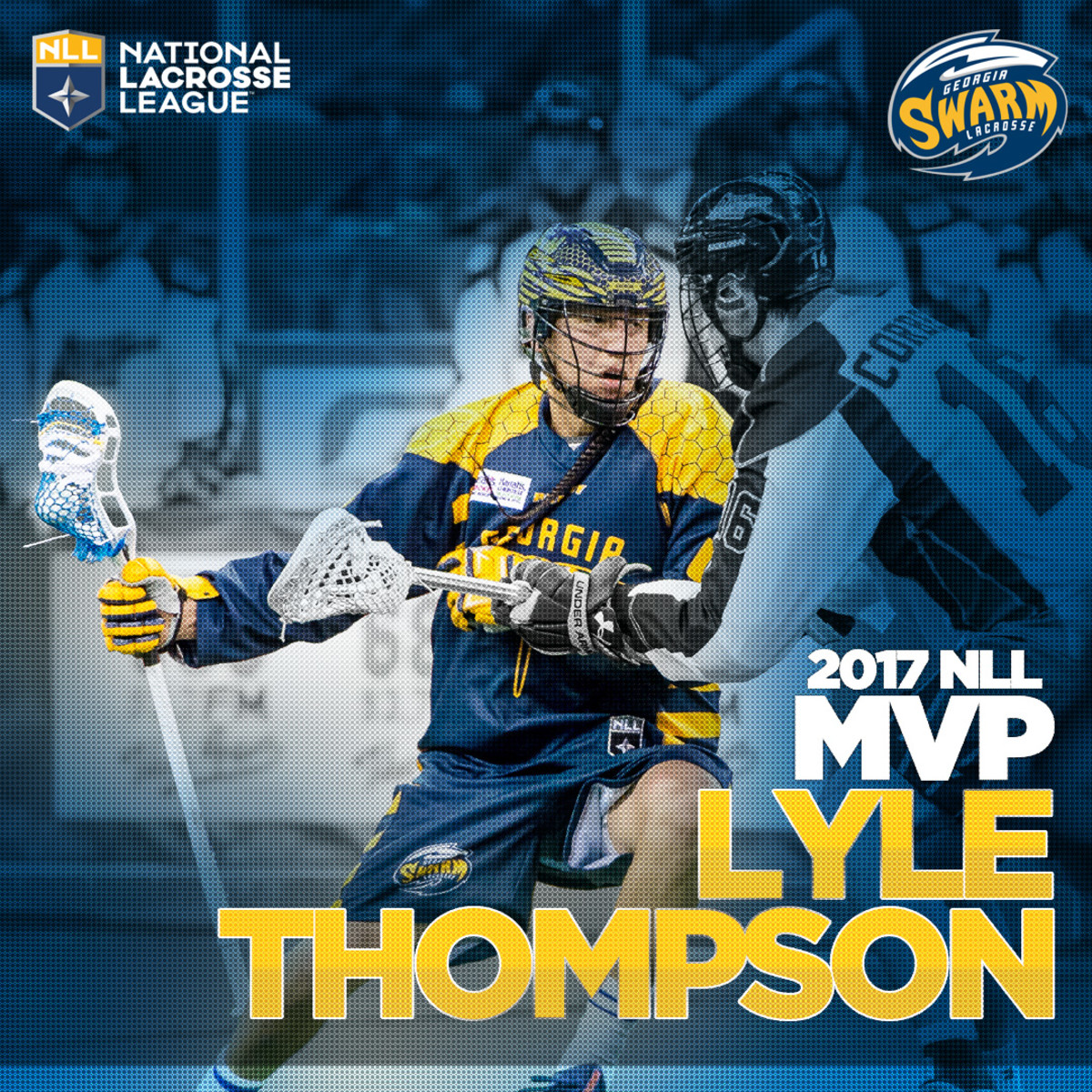 Thrilling Indian country, professional lacrosse fans and his own Onondaga Nation, Georgia Swarm's Lyle Thompson is the 2017 National Lacrosse League MVP.